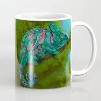 chameleon Mugs featuring Chameleon by Ben Geiger