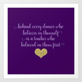Dance Quotes - Purple Art Print
