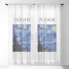 Van Gogh - Starry Night Sheer Curtain