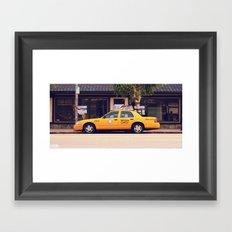 Yellow Cab Co ∫ Living Los Angeles Framed Art Print