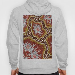Aboriginal Art Authentic - Bushland Dreaming Ppart 2 Hoody