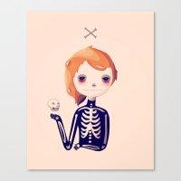 bones Canvas Prints featuring Bones by Nan Lawson