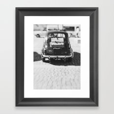 fiat 500 car - his Framed Art Print