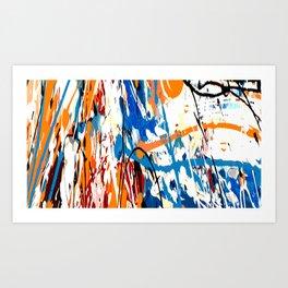 Blue orange #1 Kunstdrucke