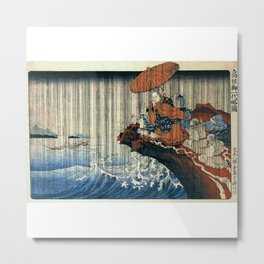 Ukiyo-e, Utagawa Kuniyoshi, Priest Nichiren praying under the storm Metal Print