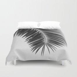 Palm Leaf Black & White I Duvet Cover