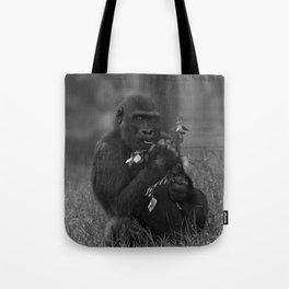 Cheeky Gorilla Lope Mono Tote Bag