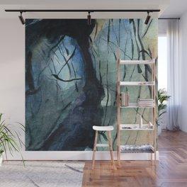 Labradorite Crystal Watercolor Wall Mural