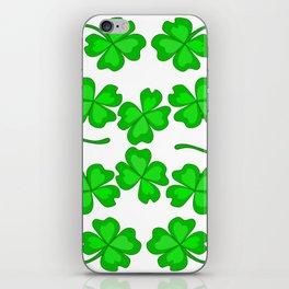 St. Patrick's Day - Magic Quatrefoil iPhone Skin