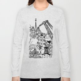 Three City Silhouettes Long Sleeve T-shirt