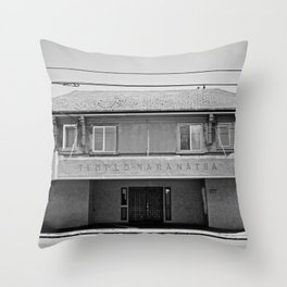 Former Community World Theater Throw Pillow