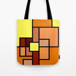 The Colors of / Mondrian Series - Lion King  Tote Bag