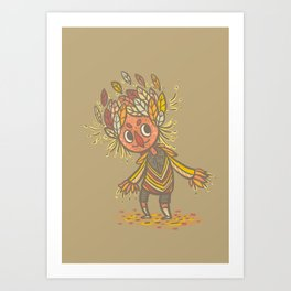 Fall buddy Art Print