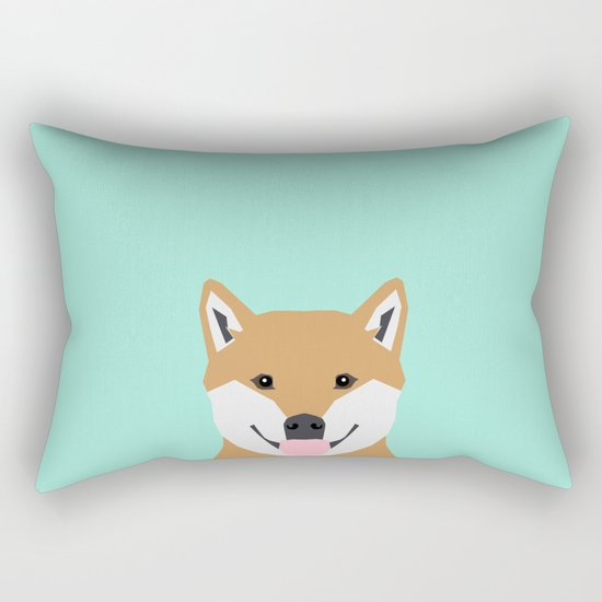 Cassidy - Shiba Inu gifts for dog lovers and cute Shiba Inu phone case for Shiba Inu owner gifts Rectangular Pillow