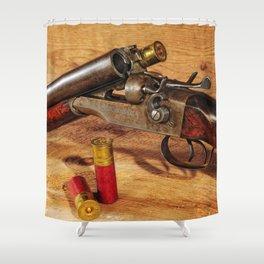 Old Double Barrel Stevens Shower Curtain