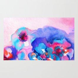 Watercolor floral arrangement. Rug
