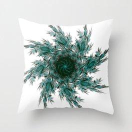 Fractal mandala Throw Pillow
