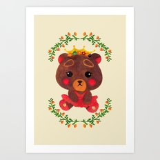 Betty the Little Bear Princess Art Print