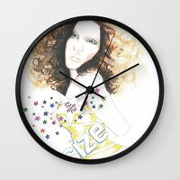 sparkle Wall Clocks featuring sparkle by jollypot