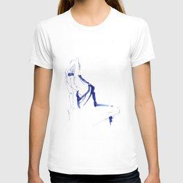 ...In a Blue Dress T-shirt