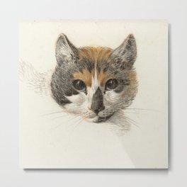Vintage Cat Illustration I Metal Print
