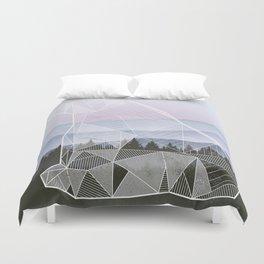 Geometric Nature - Bear (Full) Duvet Cover