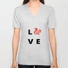 Love Squirrel Unisex V-Neck
