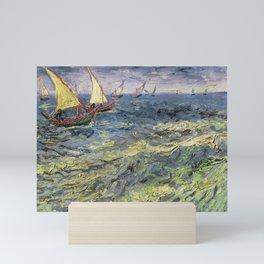 Fishing Boats at Saintes-Maries by Vincent van Gogh Mini Art Print
