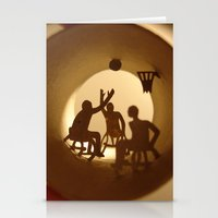 basketball Stationery Cards featuring Basketball by Anastassia Elias