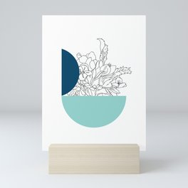VESSEL - Floral Ink in Peacock & Mint - Cooper and Colleen Mini Art Print