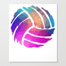 Volleyball Player or Coach Colorful Design Gift Canvas Print