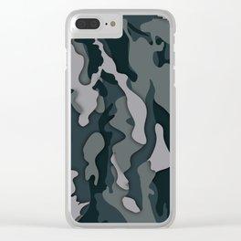 Dark Camo Clear iPhone Case