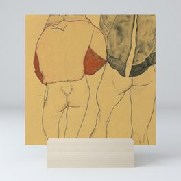 "Egon Schiele ""Two standing semi-nude females"" Mini Art Print"
