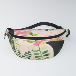 Abstract nature watercolor and gold Fanny Pack