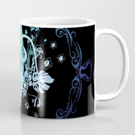 Surfing, tropical design with surfboard and flowers Coffee Mug