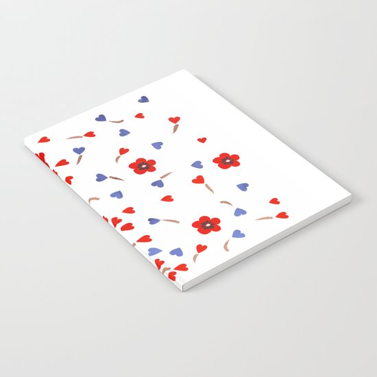 Flowers and Hearts Notebook