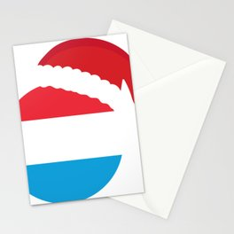 Luxembourg Christmas sant claus flag designs  Stationery Cards