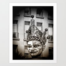 Harlequin of Nice Art Print