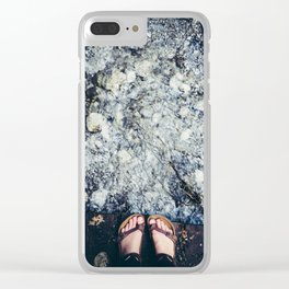 Stepping Out Clear iPhone Case