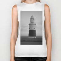 lighthouse Biker Tanks featuring Lighthouse by Simon Ede Photography