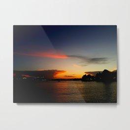 Florida Lakeside Sunset Metal Print