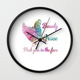She's Beauty She' Grace Chicken Farm Wall Clock