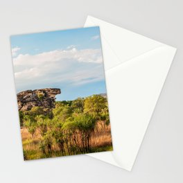Almost typical Australian Landscape: green and gold Stationery Cards