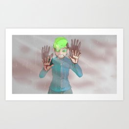 What Have I Become? I'm Sorry. - Anti version Art Print