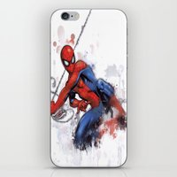 spider man iPhone & iPod Skins featuring Spider-Man  by Isaak_Rodriguez