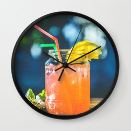 happy coctail Wall Clock