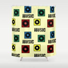 Music design Shower Curtain