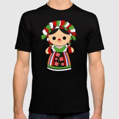 Maria 5 (Mexican Doll) Mens Fitted Tee LARGE Black