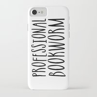 bookworm iPhone & iPod Cases featuring Professional bookworm by bookwormboutique
