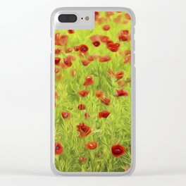 Poppyflower IV Clear iPhone Case